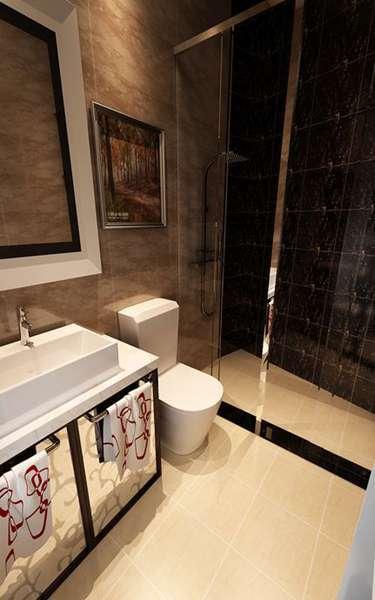 45平直筒一居室小户型装修设计及效果图欣赏