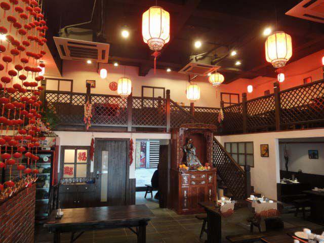 饭店吧台设计图_东北特色餐厅装修设计 东北特色餐厅装修效果图_装修保障网