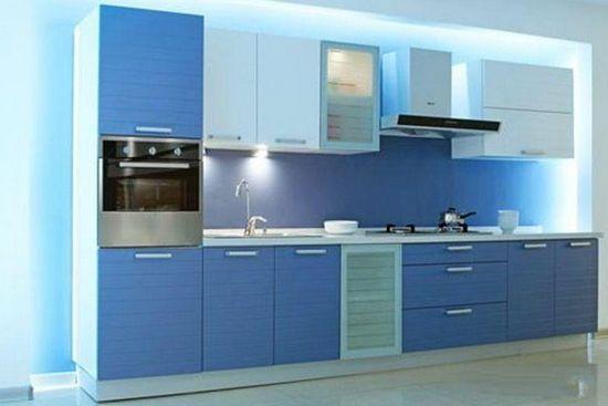 不锈台面整体厨房装修搭配整体厨房效果图高清图片