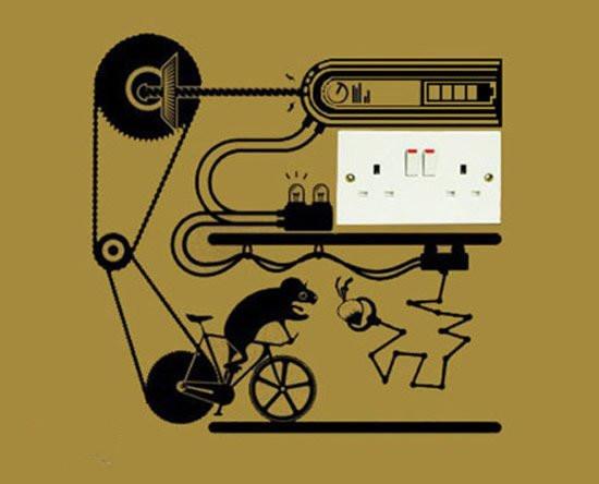 家居diy:diy创意插座墙贴图案设计