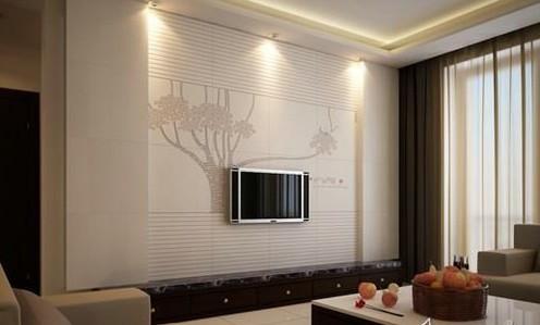 瓷砖作为电视背景墙装饰材料,也是近年来开始流行的.