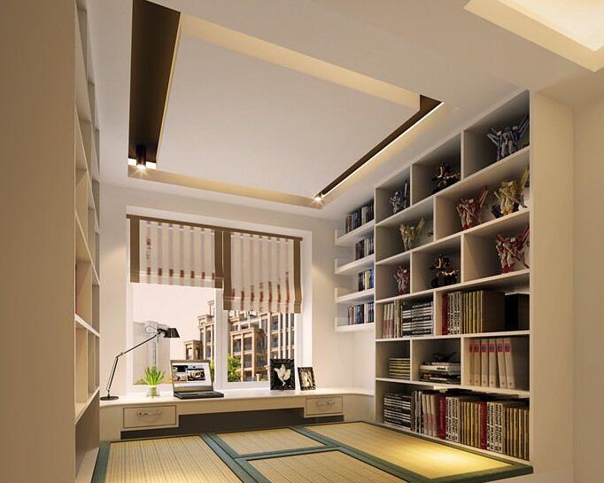 书柜隔断墙,实用装饰一举两得图片