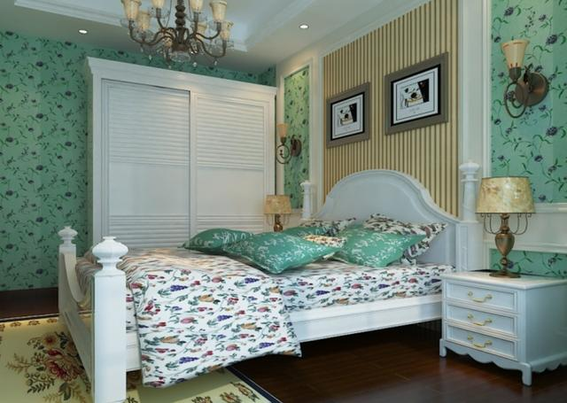 田园风清新家居装饰案例 卧室和客厅真的好漂亮