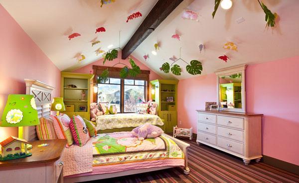 粉嫩萌系儿童房装修设计 粉色儿童房精选装修设计效果