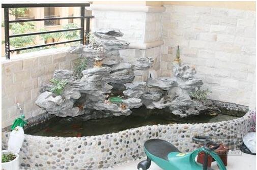 阳台小鱼池装修设计方法案例及设计图图片