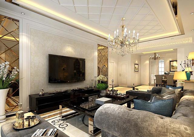 欧式风格装修效果图 惬意和浪漫的生活空间