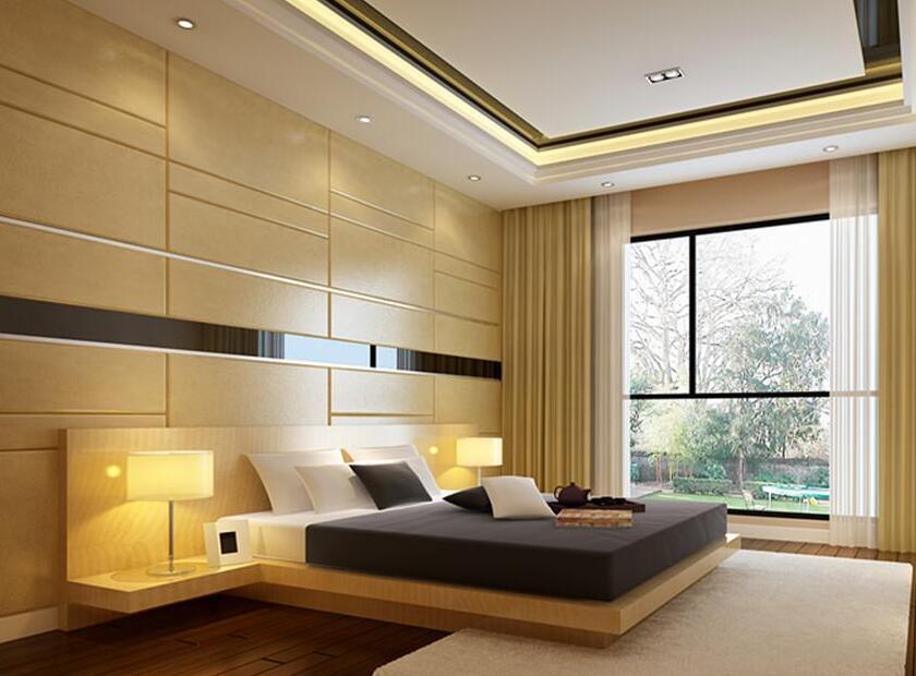 新居臥室配景牆裝修圖
