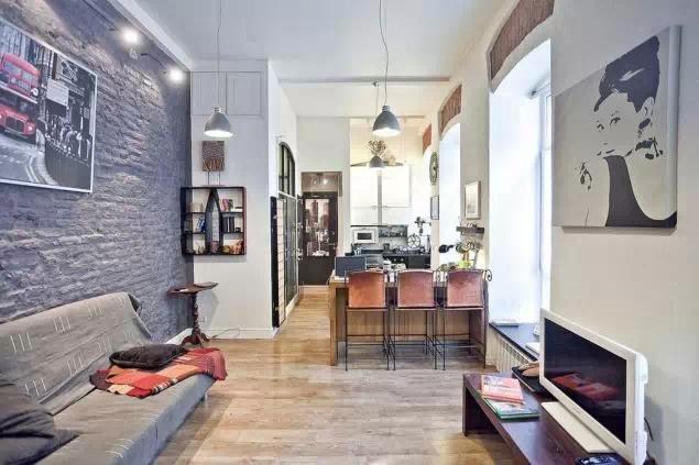 52平米2室小户型装修设计案例及效果图欣赏