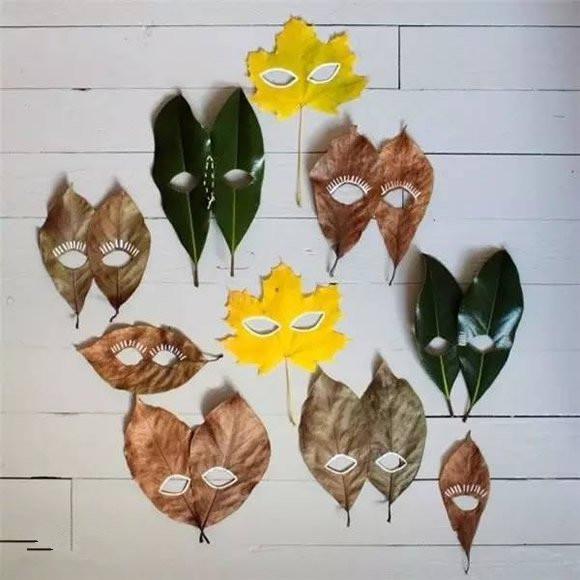 手工diy:落叶手工diy教程 把树叶做成挂饰