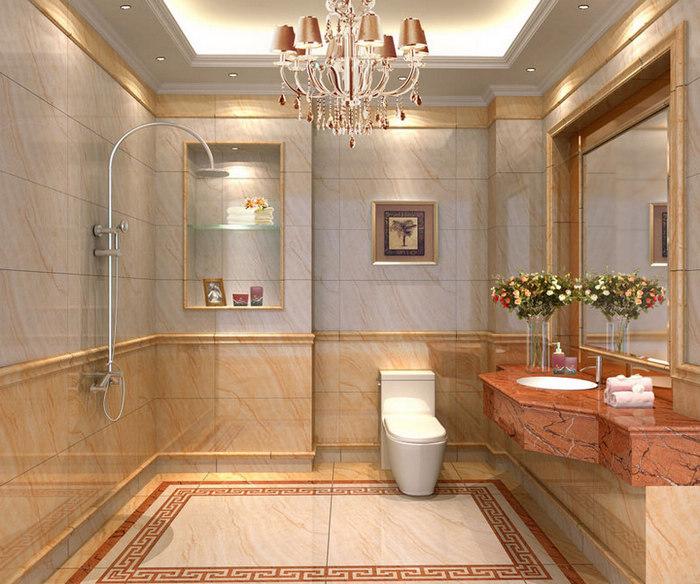 卫生间墙壁瓷砖选择指标一:瓷砖质地密度