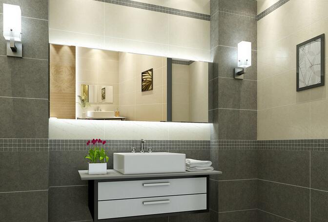卫生间墙砖装修设计腰线宽度一般是多少?