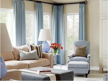 阳台客厅打通窗帘装修设计