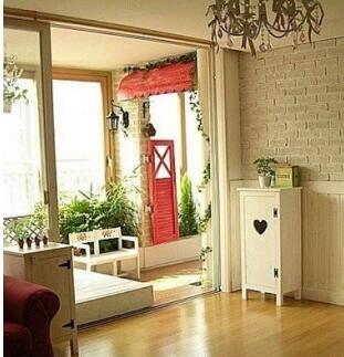阳台客厅打通窗帘装修设计效果图