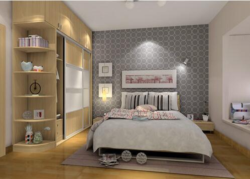 室拐角书柜书桌设计简析 小卧室捌角书桌效果图案例
