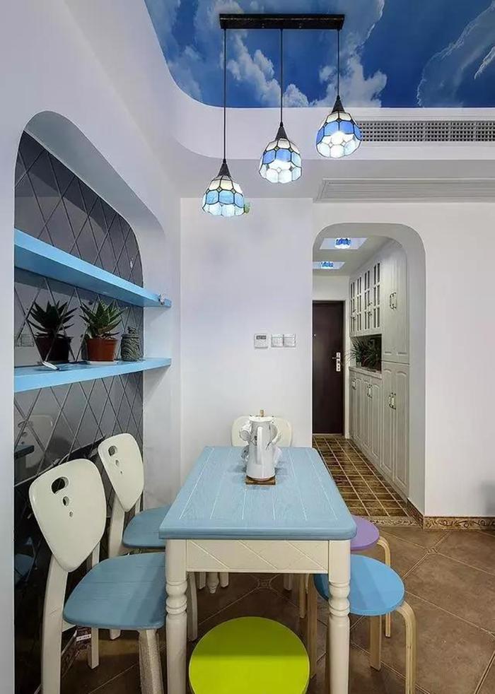 81平地中海风格装修案例 蓝色海洋的温馨之家
