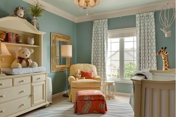 书房窗帘颜色搭配效果图