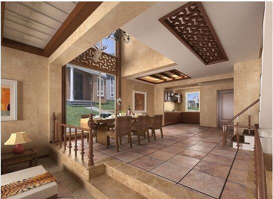 客厅台阶设计 客厅台阶设计榻榻米设计方案之角落布局 角落布局的榻榻米适用于对于休闲的要求不是太高,但希望客房和书房能合二为一,并能满足部分收纳需求的家庭。此种布局的好处在于留出的位置很宽敞,给空间一种开阔感,并且榻榻米可以直接作为床与休闲沙发使用,利用率高。