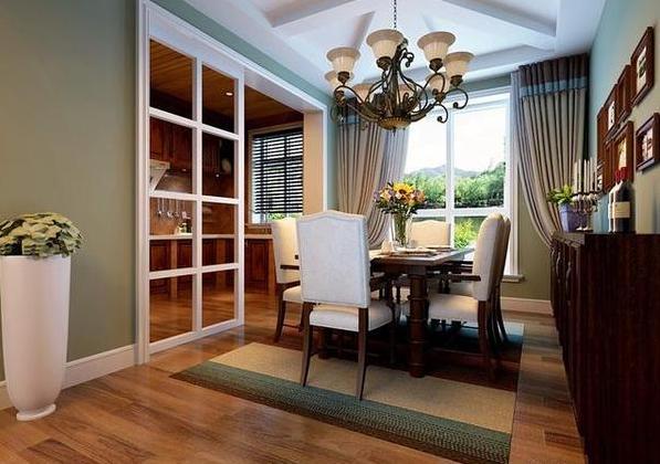 115平美式田园风格装修案例 温馨舒适的家园