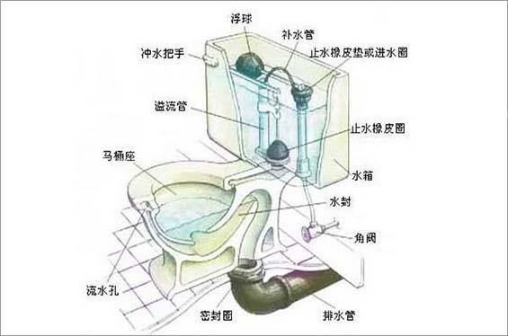 直冲马桶安装 直冲式马桶工作原理