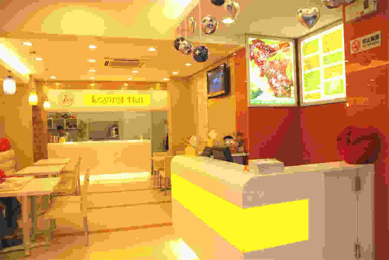 素食餐厅店面装修设计 素食餐厅前台设计效果图片