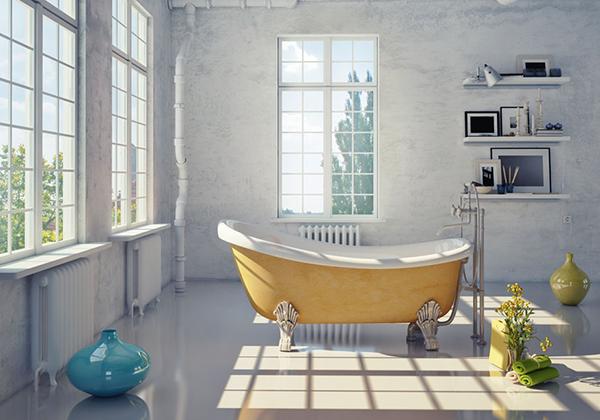 五、看了让人直呼的创意卫浴设计炫酷红黑风格卫浴设计   在这幅创意卫浴设计图中,设计师选择了极具时尚感的黑色和红色来进行卫浴装饰色彩的搭配。一般来说卫浴的颜色我们都会选择简洁明亮的白色,再辅以米色、黄色等作为搭配。而以黑色和红色作为主色调设计的卫浴十分少见,却也彰显了这个卫浴空间的独特个性。镂空的地灯灯罩简洁而富有创造力,除了四周墙壁外,吊灯和地面选用的依旧是白色瓷砖,让空间具有时尚感的同时也不会太黑暗。   以上就是保障网小编为大家带来的看了让人直呼的创意卫浴设计图欣赏,这几间卫浴虽然风格各不相同