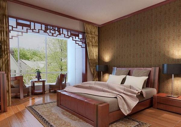 中式风格床头背景怎么设计好看?床头背景墙刮起的中国图片