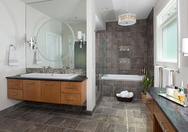 干净清爽的宜家风格卫生间装修设计实例欣赏