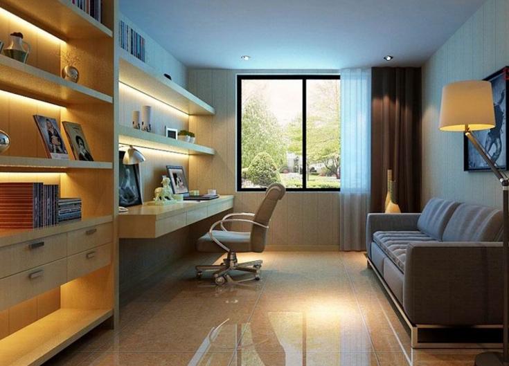 家居 起居室 设计 书房 装修 735_529
