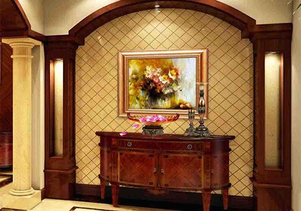 豪华欧式玄关背景墙装修效果图