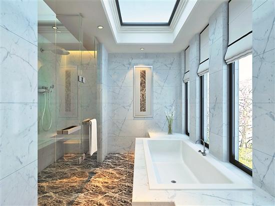 搭配淡色系,造型优美的欧式风格家具,与深色实木地板相映成趣,更显