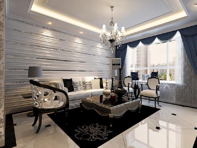 半包6万装修140平米三居室 后现代风格装修效果图