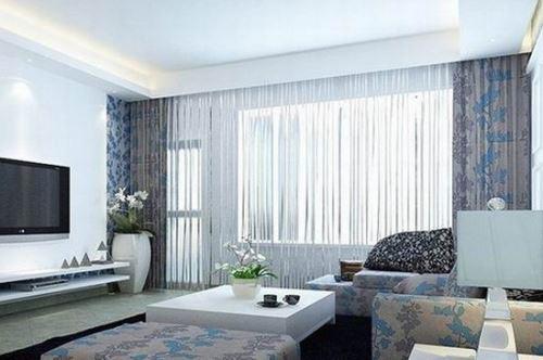 地中海风格客厅窗帘效果图