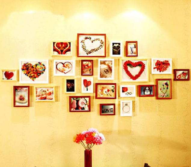 让你家墙壁不再单调     将冲印出的相片,像拼图那样拼出有新意的造型图片