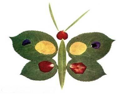 家居diy:树叶粘贴画图片大全 跟孩子一起动手吧!