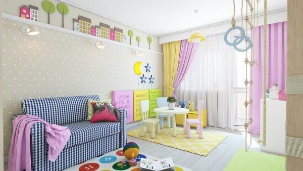 房间设计彩色手绘