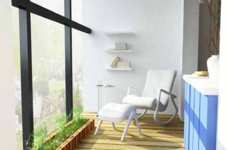 客厅阳台装修效果图 清茶躺椅的放松人生