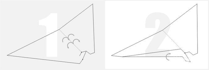 【图】冲浪纸飞机折法图解