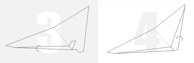 【图】冲浪纸飞机折法图解 学会只要八步