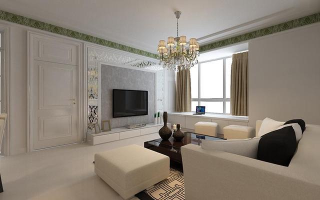 装修效果图130平客厅在北面南三卧室户型