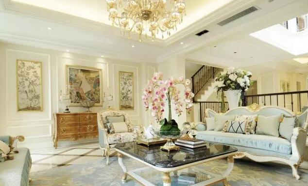 奢华典雅欧式风格别墅设计 简直是座宫殿图片