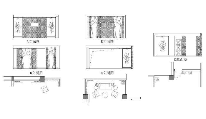 中餐厅包间局部设计图