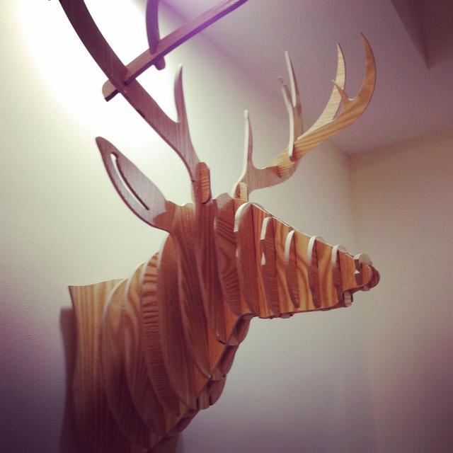 鹿头矢量图北欧风格