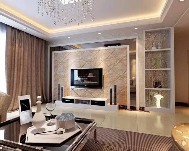 客厅电视背景墙可以采用多种材质装修设计,不少的人选择大理石来做电视墙。大理石电视墙的做法,一般是在台式、港式等简约风格中会常用到,通过大理石做的电视墙,在质感方面更大方、简洁及美观,也是现代家庭客厅装修中不二之选。下面装修网小编分享客厅大理石电视墙装修效果图。