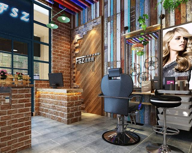 别具一个的美发店装修设计 恰到好处的繁与简图片