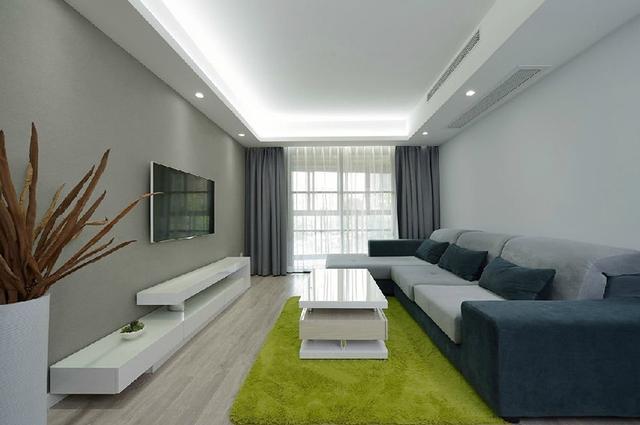 装修保障网 装修学堂 房屋装修 128平黑白灰的时尚简洁风 半弧形大