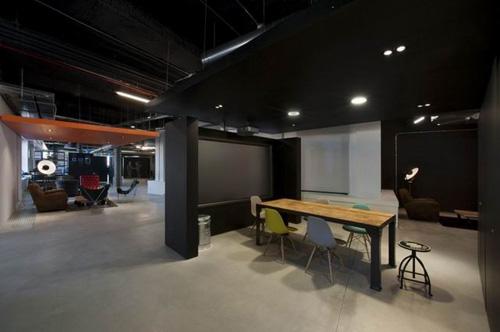 黑色工业风办公室设计案例