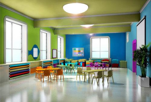 幼儿园室内布置设计 幼儿园室内装修设计效果图图片