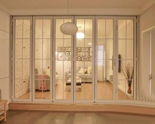 阳台磨砂玻璃隔断装修 阳台磨砂玻璃隔断效果图图片
