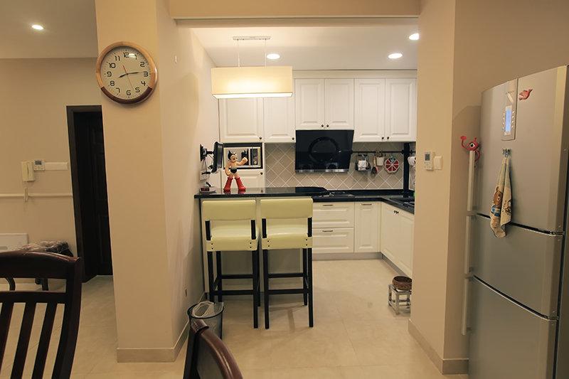 美式厨房岛台装修设计 厨房岛台效果图片