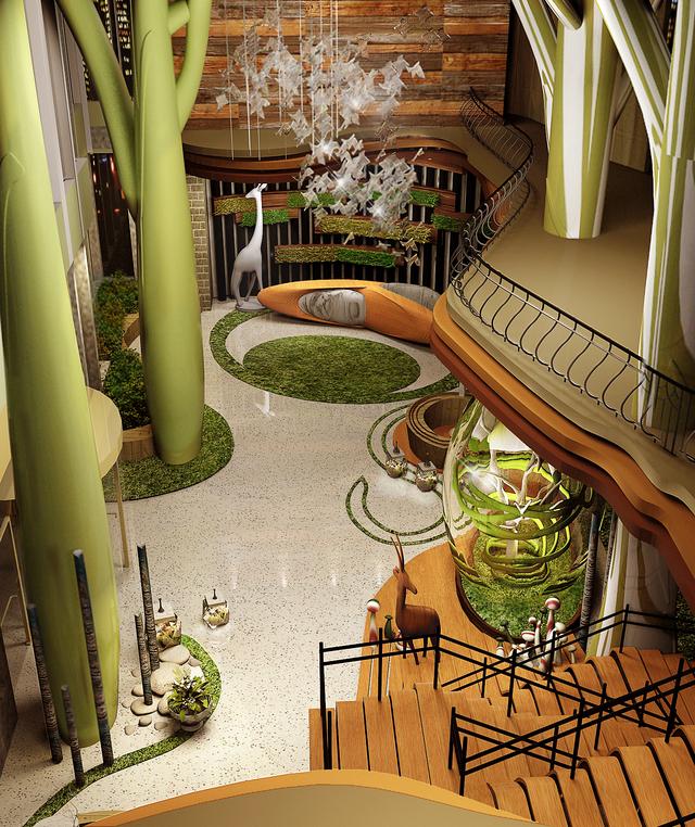 绿野仙踪主题餐厅装修设计 绿野仙踪主题餐厅效果图图片